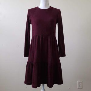 Philosophy Tiered Waffle Knit Baby Doll Dress